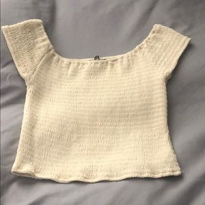 Brandy Melville yellow off the shoulder shirt